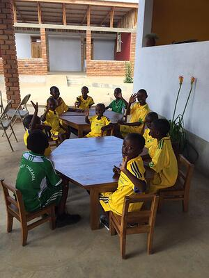 Barn i barnhemmet Econef Tanzania